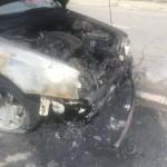 autoturism foc strada Bega incendiata (8)