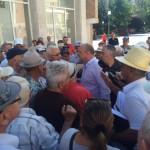Protest Pensionari Ioan Popa primaria Resita